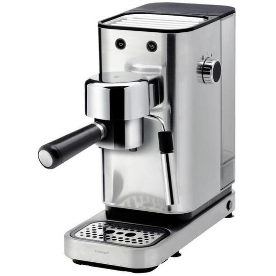 WMF Espressomaschine , Schwarz, Silber , Metall, Kunststoff