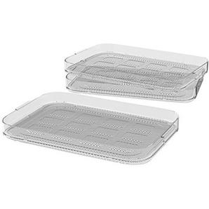 WMF Küchenminis Dörrgitter-Set, 3-teilig, 27 x 17,5 cm, 3 Dörrgitter, Zubehör für den Küchenminis Dörrautomat