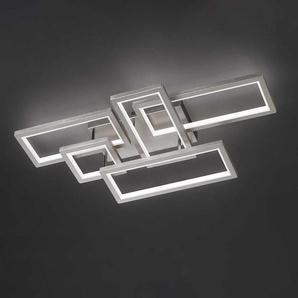 Wofi LED-Deckenleuchte Viso III Eisen Silber 53x17x99 cm (BxHxT) Dimmbar 5-flammig 112W inkl. Leuchtmittel
