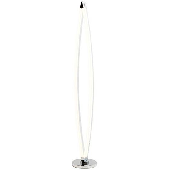 Wofi LED-Stehlampe mit ovaler Lichtleiste ¦ silber