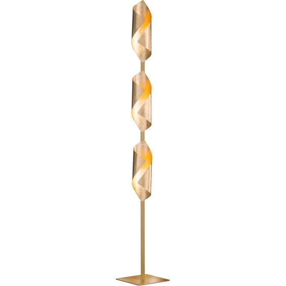 WOFI,LED Stehlampe SAFIRA 3 -flg. /, H:142 cm silberfarben LED Stehlampen LED-Lampen und LED-Leuchten Lampen Leuchten