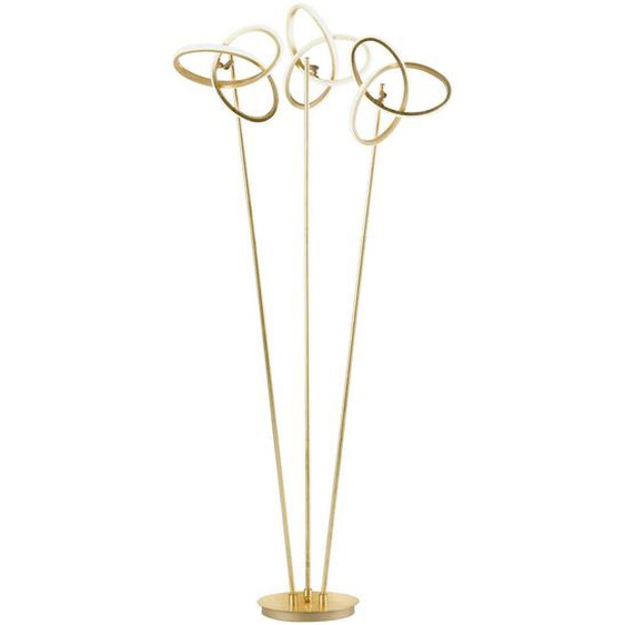 Wofi Led-Stehleuchte , Gold , Metall , 60x140x30 cm