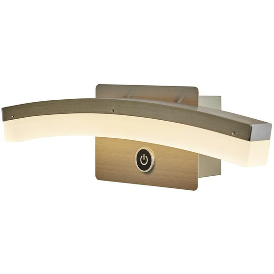 Wofi LED-Wandleuchte, gebogen mit 3-Stufen-Dimmer ¦ silber