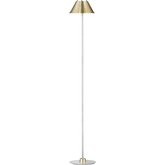WOFI,Stehlampe DYLAN 1 -flg. /, H:135 cm goldfarben Standleuchten Stehleuchten Lampen Leuchten