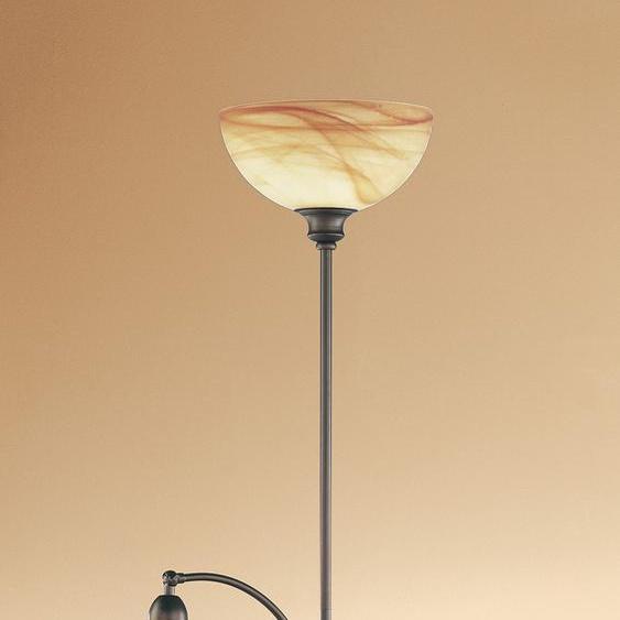 WOFI,Stehlampe LACCHINO 2 -flg. /, H:180 cm braun Leselampen Lampen Leuchten