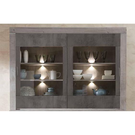 Wohnconcept Granada Buffet-Aufsatz mit Beleuchtung 156x37x110cm Haveleiche/Betonoxid