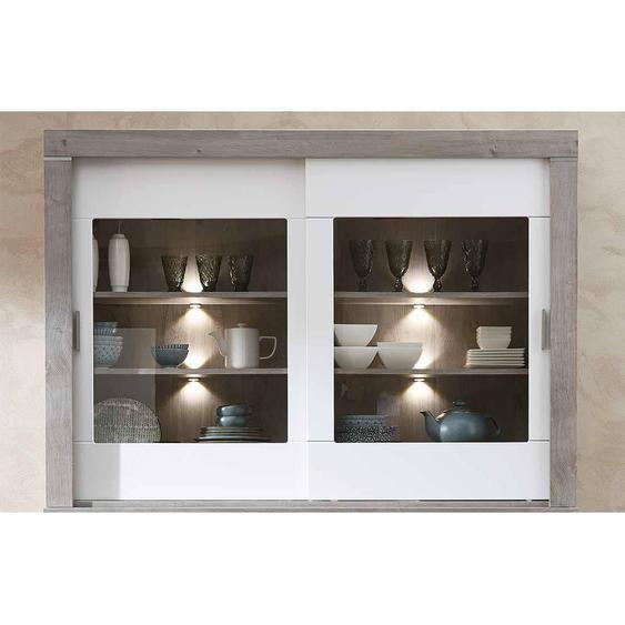 Wohnconcept Granada Buffet-Aufsatz mit Beleuchtung 156x37x110cm Haveleiche/Weiß
