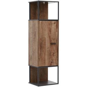 Wohnconcept Manhattan Stand-/Hängeschrank 45x38x156cm Haveleiche Cognac/Graphit