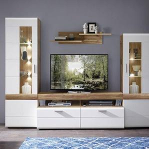 Wohnconcept Wohnwand, Weiß, Holz