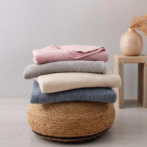 Wohndecke »Jannis«,  products, in Melange-Optik und aus zertifizierter Bio-Baumwolle