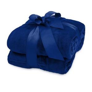 Wohndecke »Lumaland TV Kuscheldecke mit Ärmeln aus weich...«, Lumaland, aus weichem Coral Fleece mit Handytasche 170 x 200 + 50 cm Fußtasche blau