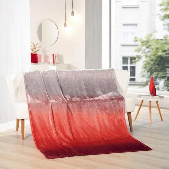 Wohndecke »Memphis Premium Rainbow«, Gözze, mit bedrucktem Rainbow-Farbverlauf