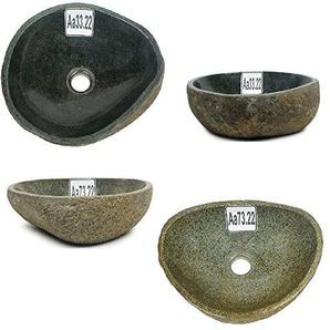 wohnfreuden Waschbecken aus Naturstein 29-39 cm ? rund oval ? Unikat Auswahl ?