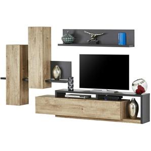 Wohnkombination | Holzfarben | 320 Cm | 200 Cm | 45 Cm | Möbel Kraft