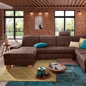 Wohnlandschaft, braun, 324cm, Ottomane rechts, FSC-Zertifikat, , , FSC®-zertifiziert, exxpo - sofa fashion