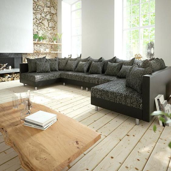 Wohnlandschaft Clovis XL Schwarz Modulsofa erweiterbar, Design Wohnlandschaften, Couch Loft, Modulsofa, modular