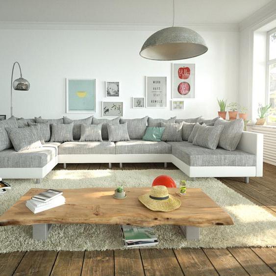 Wohnlandschaft Clovis XL Weiss Hellgrau Modulsofa, Design Wohnlandschaften, Couch Loft, Modulsofa, modular