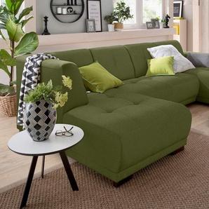 Home affaire Wohnlandschaft »Langeland«, grün, 297cm, Recamiere rechts, FSC-Zertifikat, ,