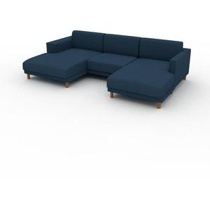Wohnlandschaft Ozeanblau - Flexible Designer-Wohnlandschaft: Hochwertige Materialien, einzigartiges Design - 276 x 75 x 162 cm, Konfigurator