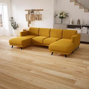 Wohnlandschaft Rapsgelb - Flexible Designer-Wohnlandschaft: Hochwertige Materialien, einzigartiges Design - 265 x 75 x 162 cm, Konfigurator