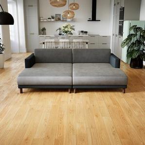 Wohnlandschaft Anthrazit - Flexible Designer-Wohnlandschaft: Hochwertige Materialien, einzigartiges Design - 224 x 75 x 162 cm, Konfigurator