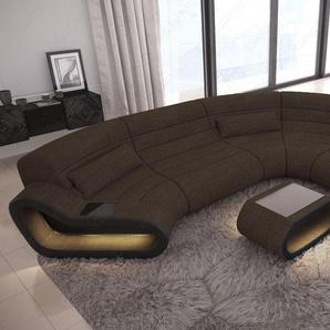 Wohnlandschaft Stoff Couch Concept mit LED Beleuchtung