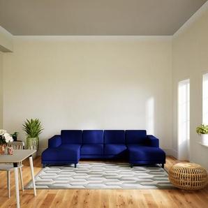 Wohnlandschaft Tintenblau - Flexible Designer-Wohnlandschaft: Hochwertige Materialien, einzigartiges Design - 288 x 75 x 162 cm, Konfigurator