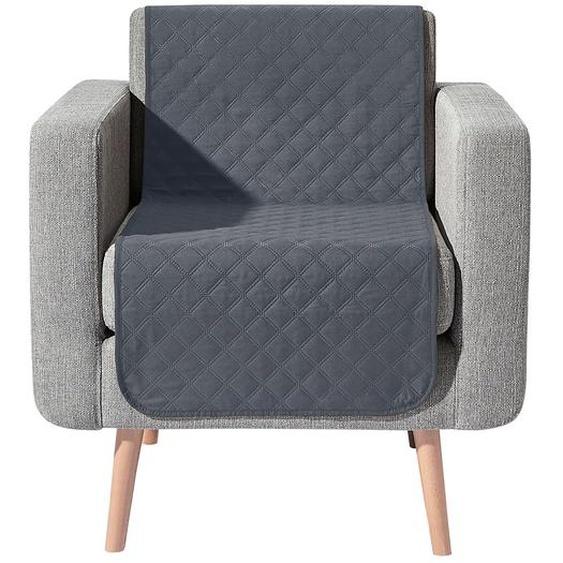 Wohnprogramm 3, 40x60 cm, 2 Armlehnenschoner grau Sofaüberwürfe Hussen Überwürfe
