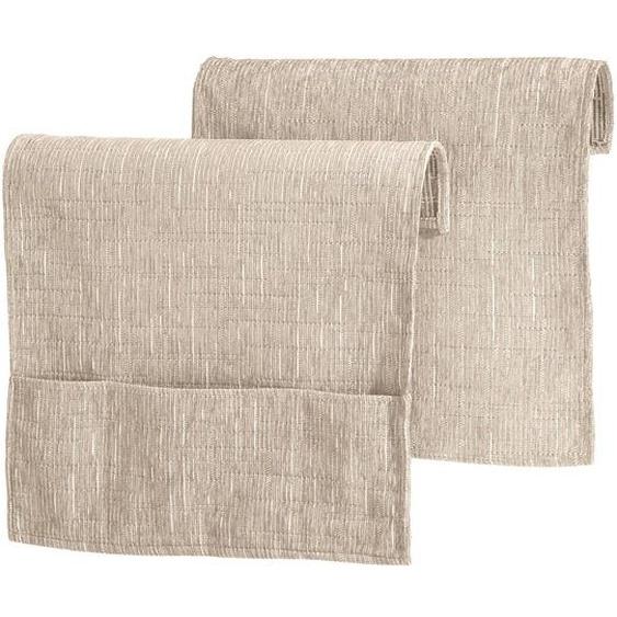 Wohnprogramm, Dohle + Menk 2 (40x55 cm, Armlehnenschoner) beige Sofaüberwürfe Hussen Überwürfe Decken