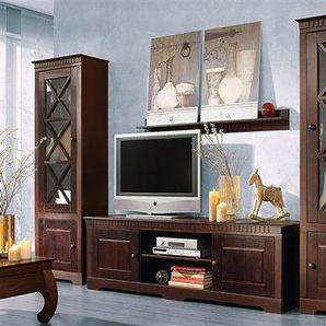 Home affaire Wohnwand »Lisa«, (Set, 3-tlg), bestehend aus zwei Vitrinen und einem Lowboard, aus massivem Kiefernholz