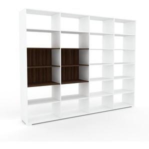 Wohnwand Weiß - Individuelle Designer-Regalwand: Hochwertige Qualität, einzigartiges Design - 301 x 235 x 47 cm, Konfigurator