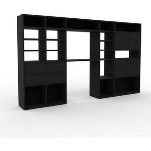 Wohnwand Schwarz   MDF   Konfigurierbar
