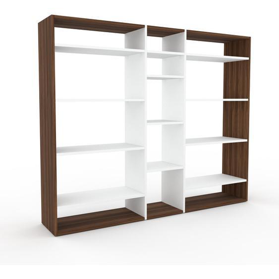 Wohnwand Weiß - Individuelle Designer-Regalwand: Hochwertige Qualität, einzigartiges Design - 190 x 157 x 35 cm, Konfigurator