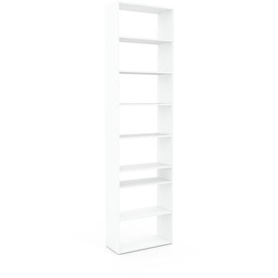 Wohnwand Weiß - Individuelle Designer-Regalwand: Hochwertige Qualität, einzigartiges Design - 77 x 291 x 35 cm, Konfigurator