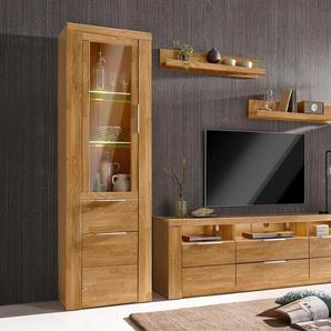 Woltra Wohnwand »Zara«, (Set, 5-St), teilmassives Holz