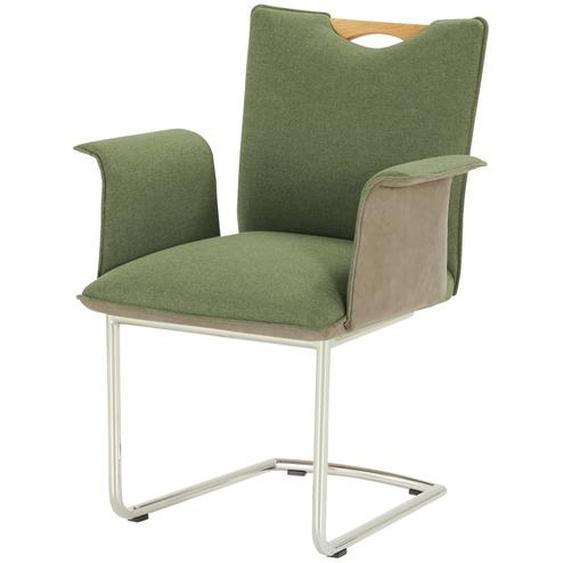 Wohnwert Polsterstuhl mit Armlehne  Scandio ¦ grün