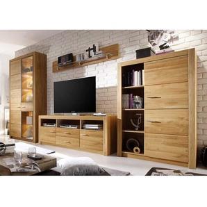 Wohnzimmer Anbauwand aus Asteiche modern (vierteilig)