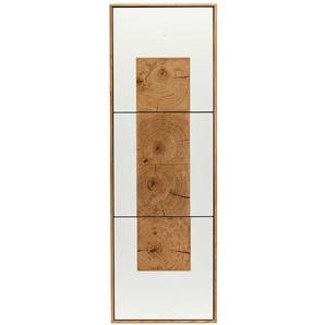 Wohnzimmer Hängeschrank in Weiß Eiche Massivholz