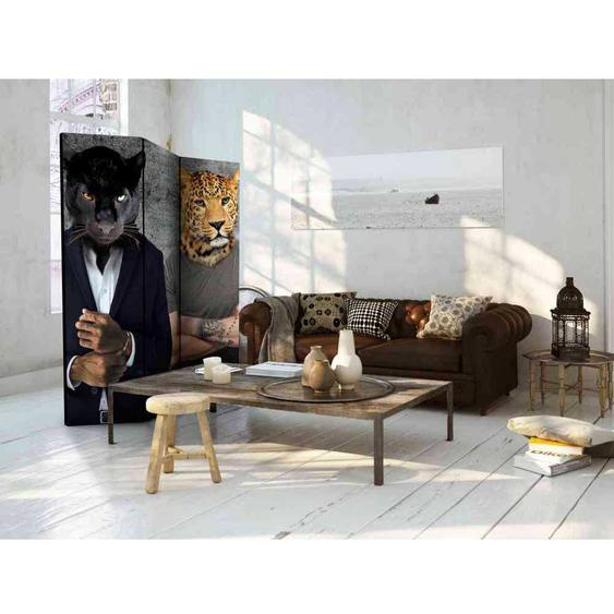 Wohnzimmer Paravent mit Fantasy Raubkatzen modern
