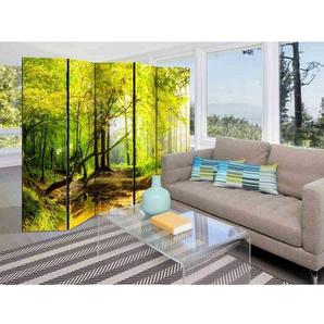 Wohnzimmer Paravent mit Wald Motiv modern