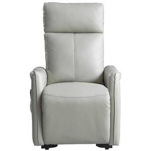 Wohnzimmer Sessel in hell Grau Aufstehhilfe