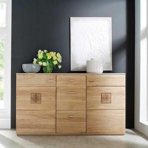 Wohnzimmer Sideboard aus Eiche Bianco 165 cm