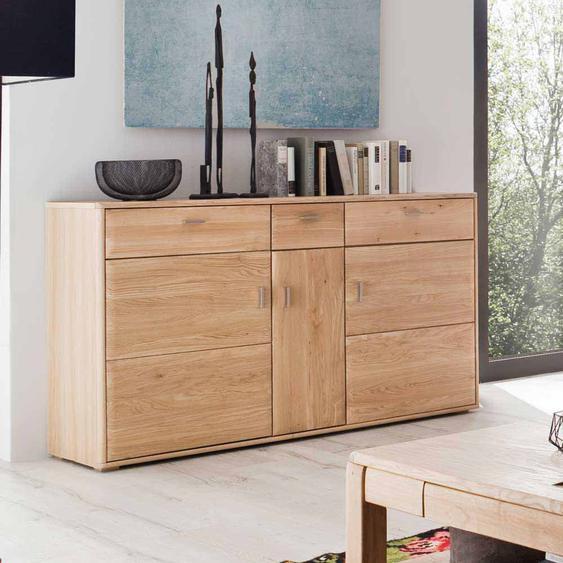Wohnzimmer Sideboard aus Eiche Bianco geölt