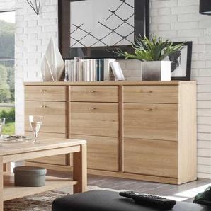Wohnzimmer Sideboard aus Wildeiche Bianco 3 t�rig