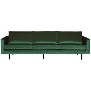 Wohnzimmer Sofa aus Samt in Gr�n Retrostil