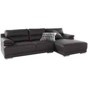 Wohnzimmer Sofa in Braun Kunstleder 270 cm breit