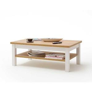 Wohnzimmer Tisch in Wei� und Eiche Optik Landhaus Design