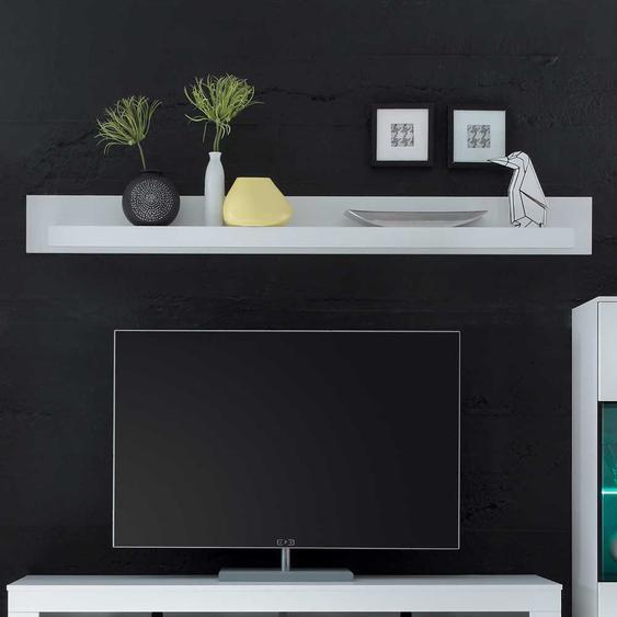 Wohnzimmer Wandboard in Weiß 200 cm