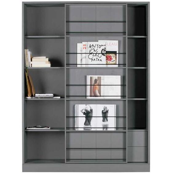 Wohnzimmerschrank in Grau Schiebetüren