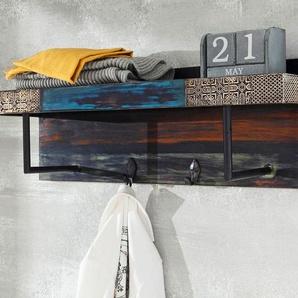 Wolf Möbel Goa Garderobenpaneel 90x25x30 Metallapplikation Mehrfarbig
